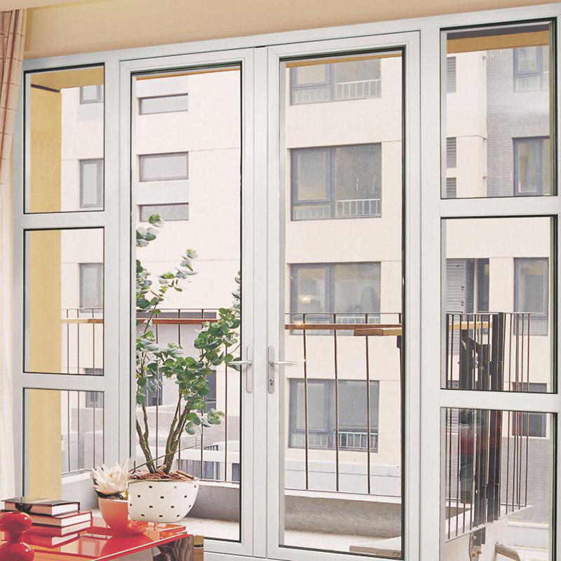 Customized Aluminum Frame French Swinging Glass Door