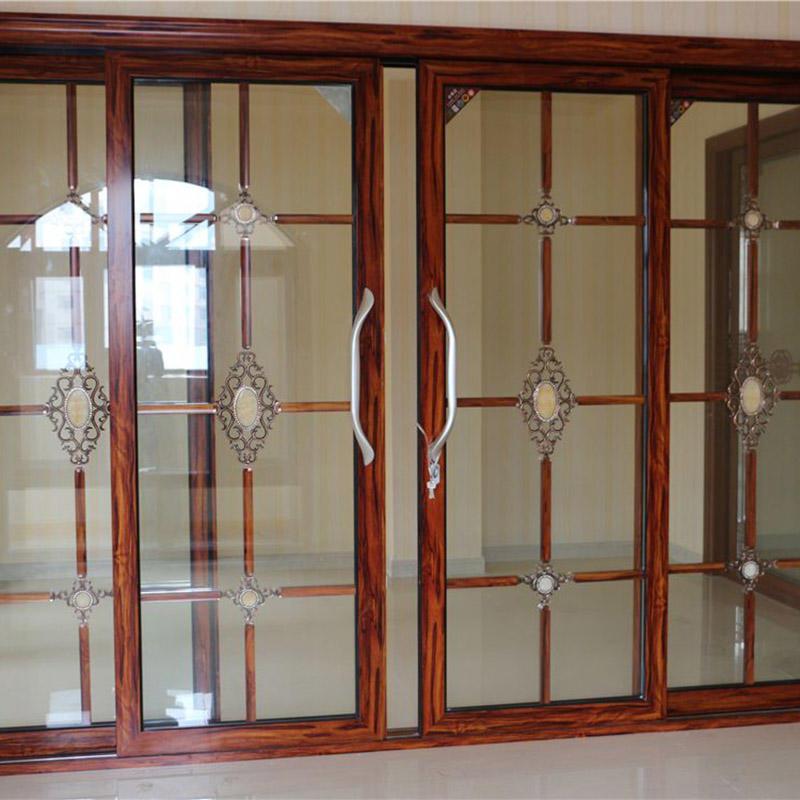 Aluminum Frame Tempered Glass Sliding Patio door