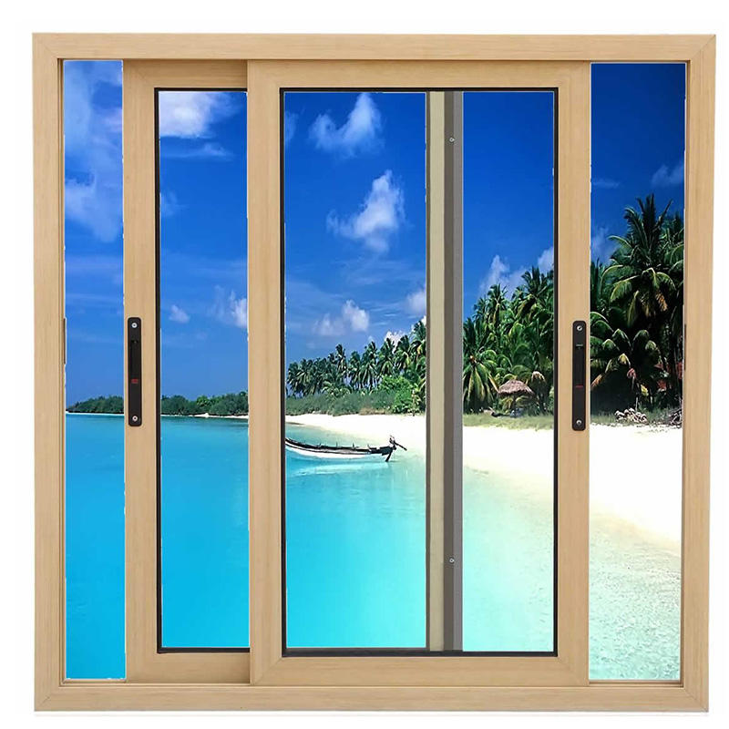 Horizontal aluminum sliding casement window
