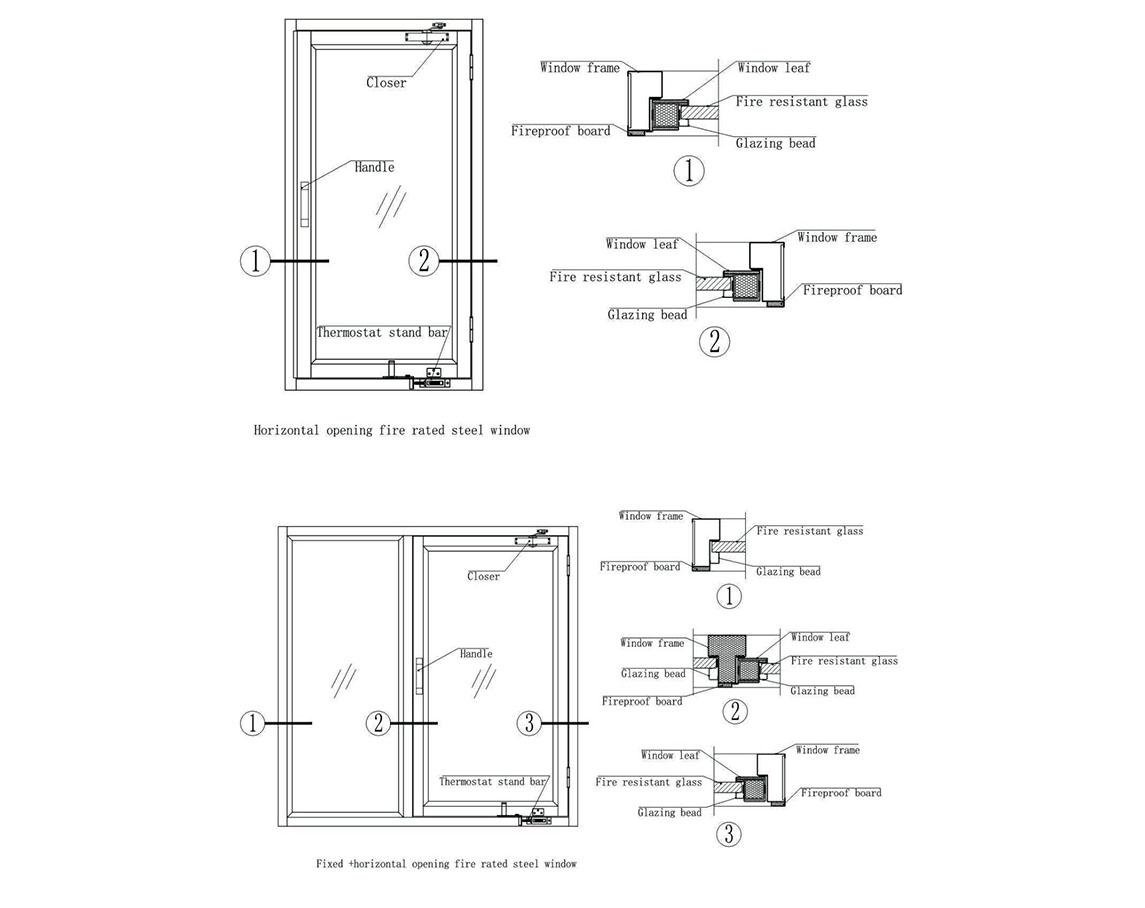 Zhongtai-International Standard Steel Fireproof Window | Fireproof Window-1