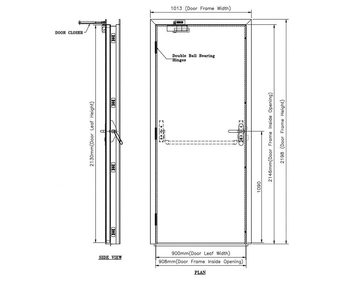 Zhongtai-Find Manufacture About Fire-rated Commercial Steel Emergency Door-3