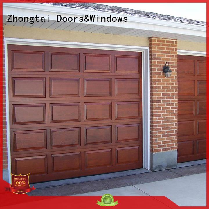 Zhongtai Brand spectacular steel automatic garage door retailers home