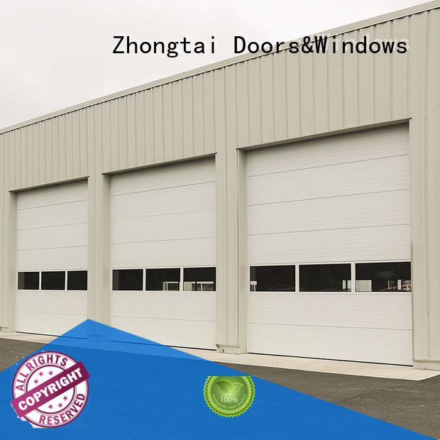 Zhongtai Top insulated roll up garage doors for sale for shop