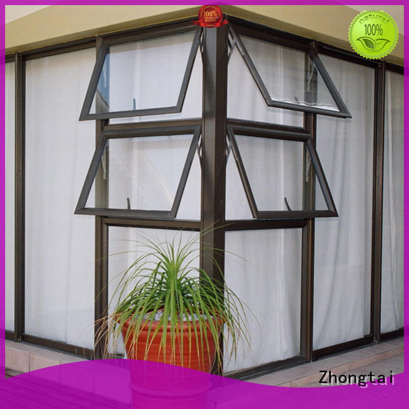 Zhongtai window aluminium window manufacturers for villa