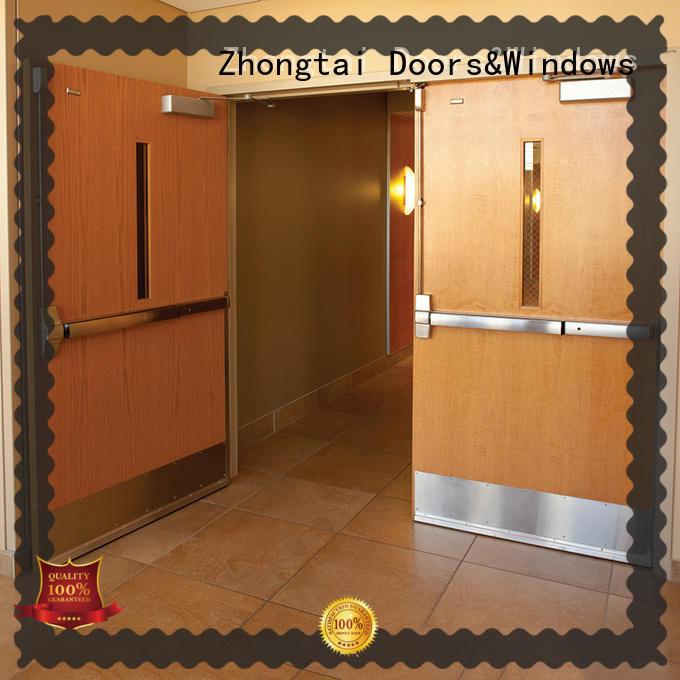 Zhongtai standard fire resistant door for sale for hospital
