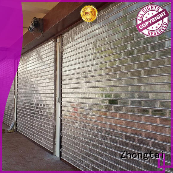 Custom shop roller shutters black suppliers for window display