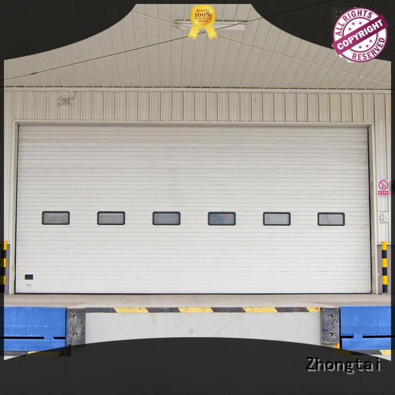 Zhongtai finished industrial garage doors factory for workshop