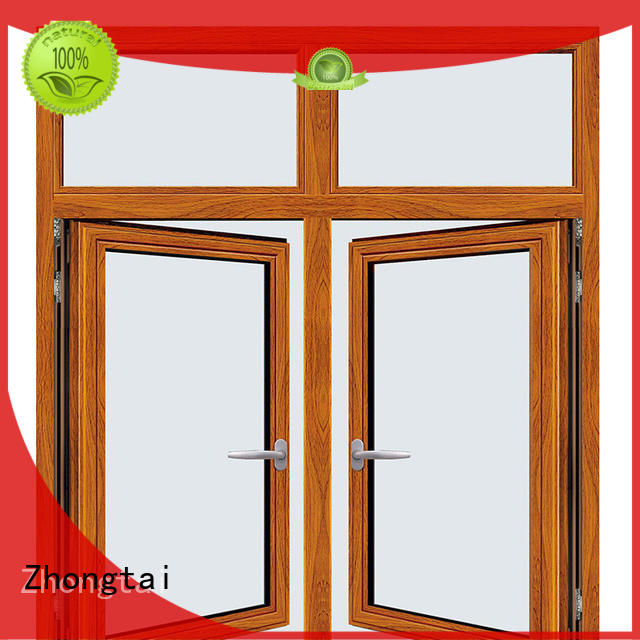 Zhongtai tempered aluminium window frames suppliers for house