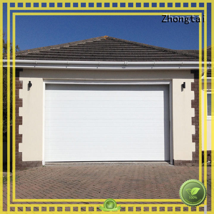 automatic electric garage doors insulation prevent outside malicious for commercial streets