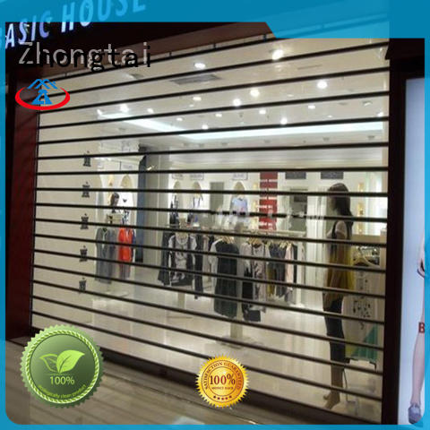 Zhongtai Top shop shutter prices manufacturers for shop