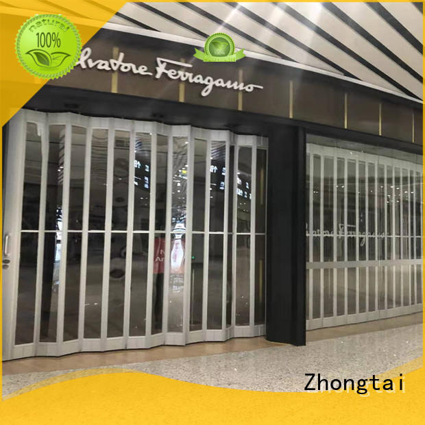 Top commercial shutters folding factory for supermarket