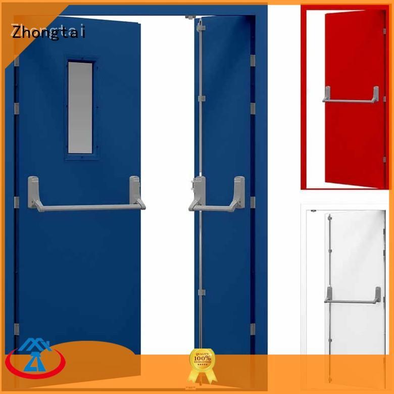 Zhongtai emergency fire resistant door suppliers for building
