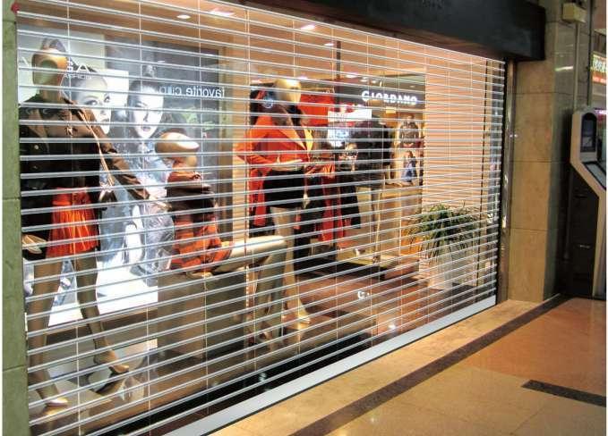 Transparent Polycarbonate Roller shutter Door for shop