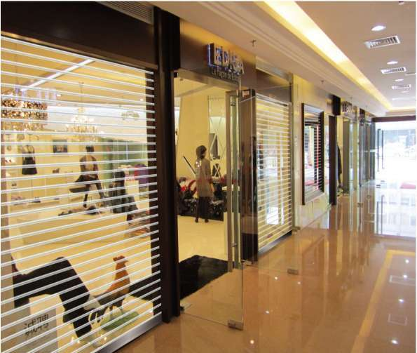 Transparent Polycarbonate Roller shutter Door for shop