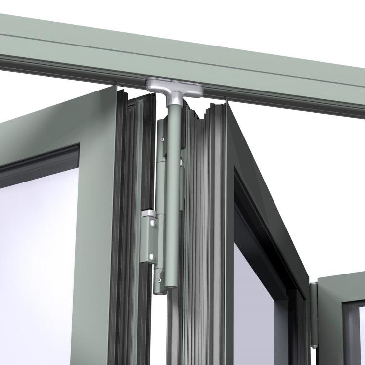 Zhongtai-High-quality Thermal Insulation High Quality Aluminum Bi-fold Door | Aluminium-2