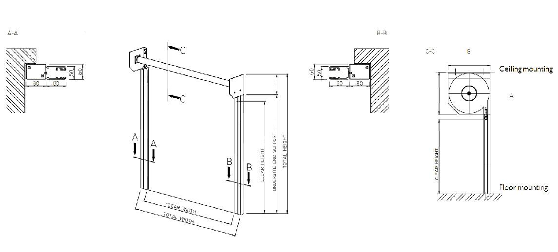 Zhongtai-Find Transparent Polycarbonate Roller Shutter Door For Shop   Manufacture-1