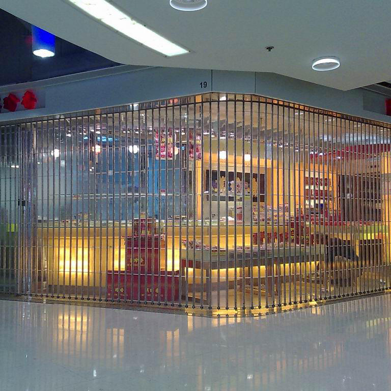Clear Polycarbonate Folding Door for Supermarket Shop
