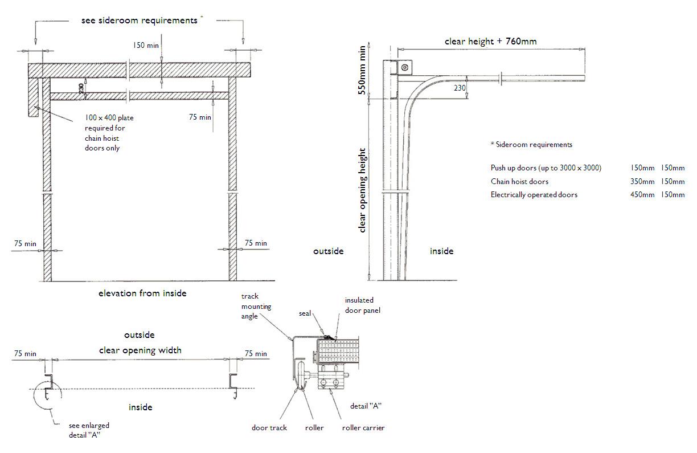 Zhongtai-Best Industrial Door Company Industial Sectional Overhead Lifting Door-3