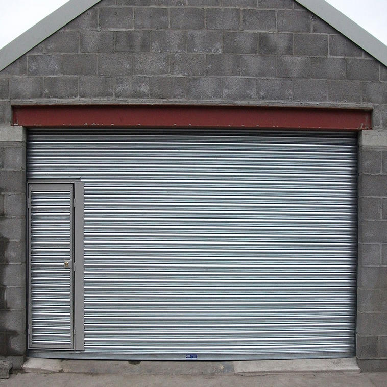 Stainless Steel Rolling Door with Pedestrian Door