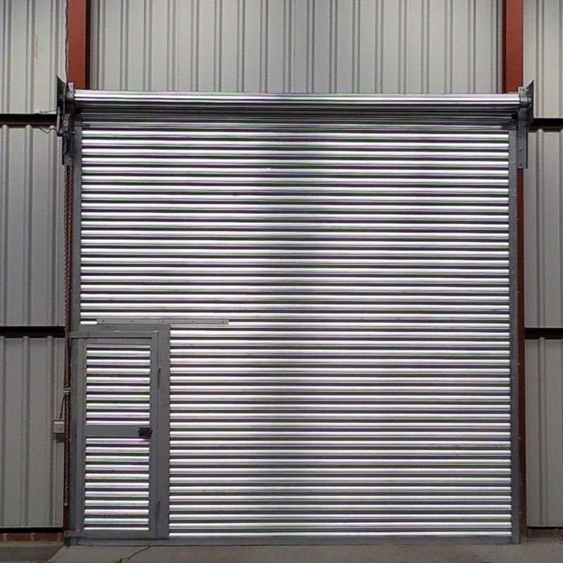 Zhongtai-Best Steel Roll Up Doors Stainless Steel Rolling Door With Pedestrian Door