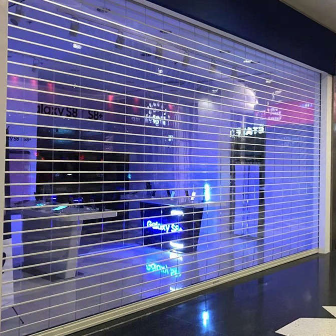 Zhongtai-Good Vision High Performance Polycarbonate Rolling Door | Shop Roller Shutters