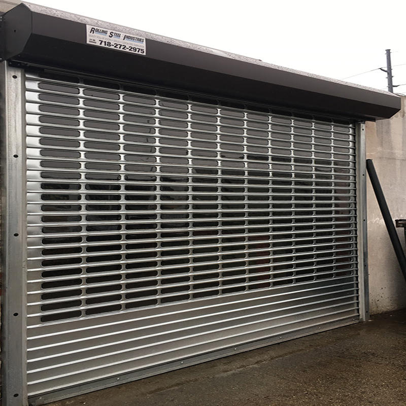 Electric Stainless Steel Grilles Rolling Door