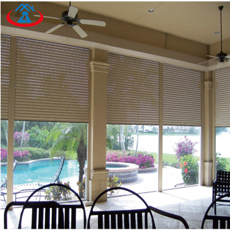 Aluminum Awning rolling shutter door and window with Polyurethane