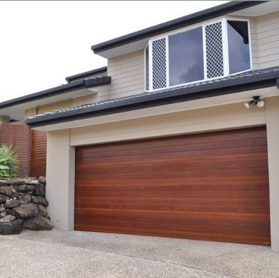 Wood Grain Aluminum Garage Door