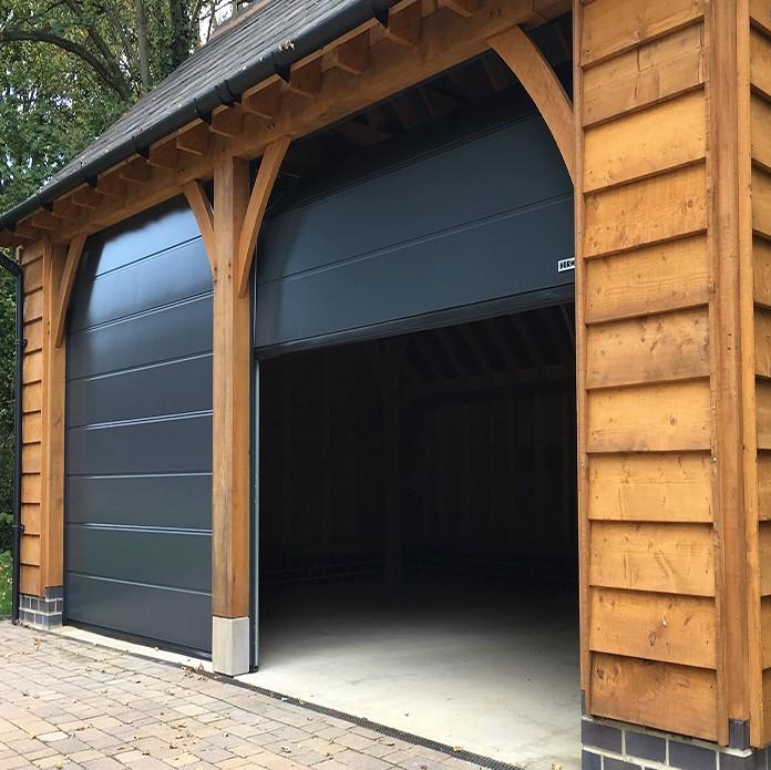 Zhongtai-Roll Up Garage Doors Thermal Insulation Overhead Sectional Garage Door