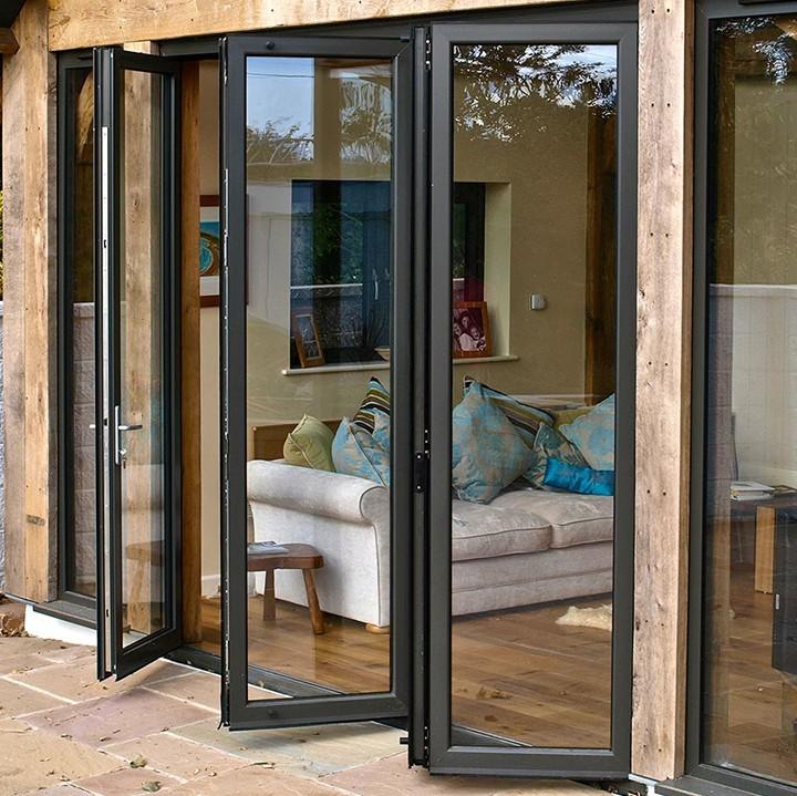 Zhongtai-Aluminium Door Frame Thermal Insulation Aluminum Folding Door