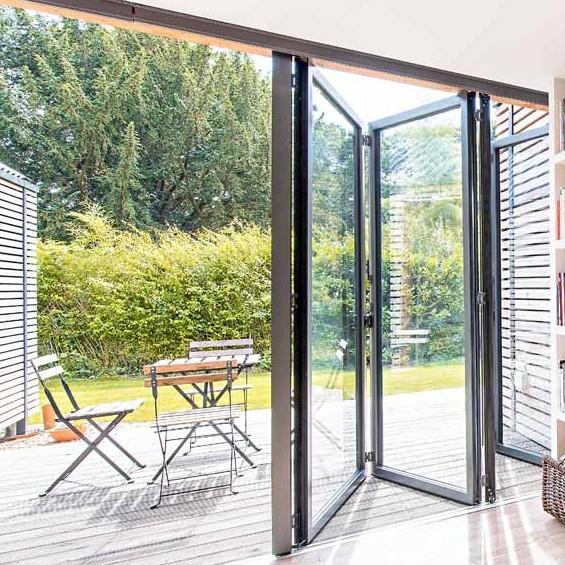 Zhongtai-Aluminium Door Frame Thermal Insulation Aluminum Folding Door-1