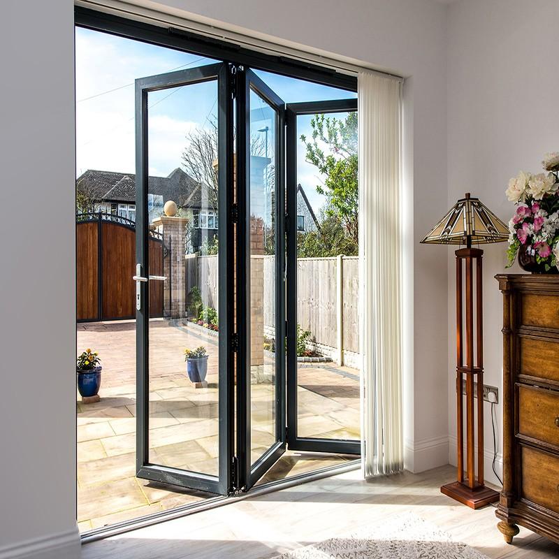 Zhongtai-Aluminium Door Frame Insulated Sound Insulation Aluminum Folding Door-1