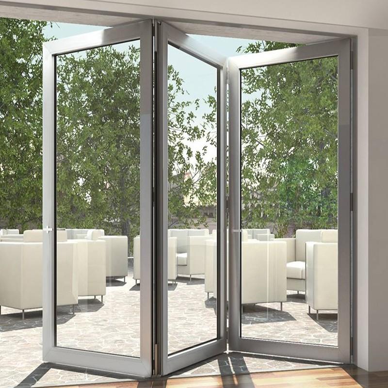 Zhongtai-High Quality Aluminum Frame Tempered Glass Folding Door | Aluminium Door