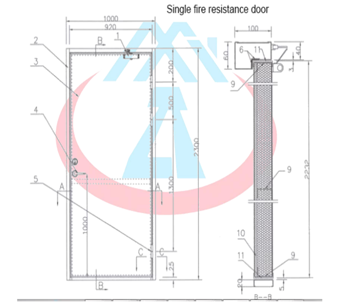Zhongtai-Professional Fire Resistant Door 3 Hour Fire Rated Door Manufacture-3