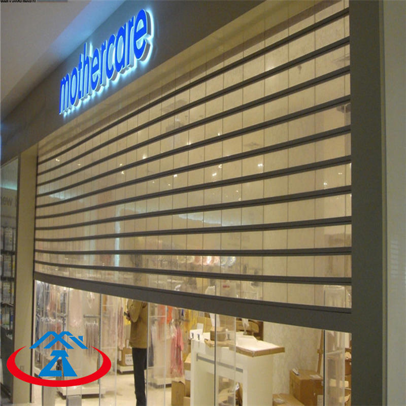 Clear Perspective Polycarbonate Rolling Shutter Door
