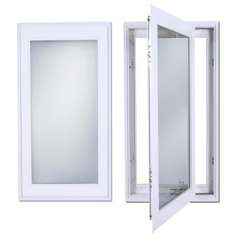 Aluminum Frame Tempered Glass Aluminum Swing Window