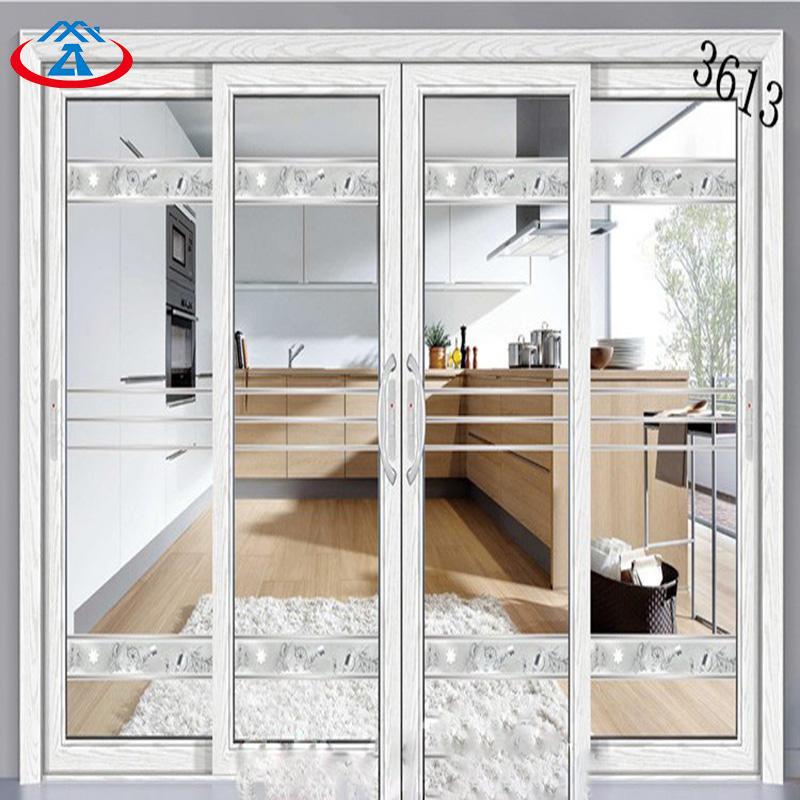 Double Tempered Glass Aluminum Sliding Door