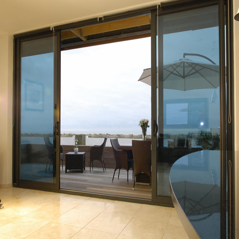 Double Tempered Glass Aluminum Sliding Door