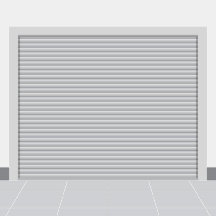 Automatic Double Layer Slat Aluminum Roller Door