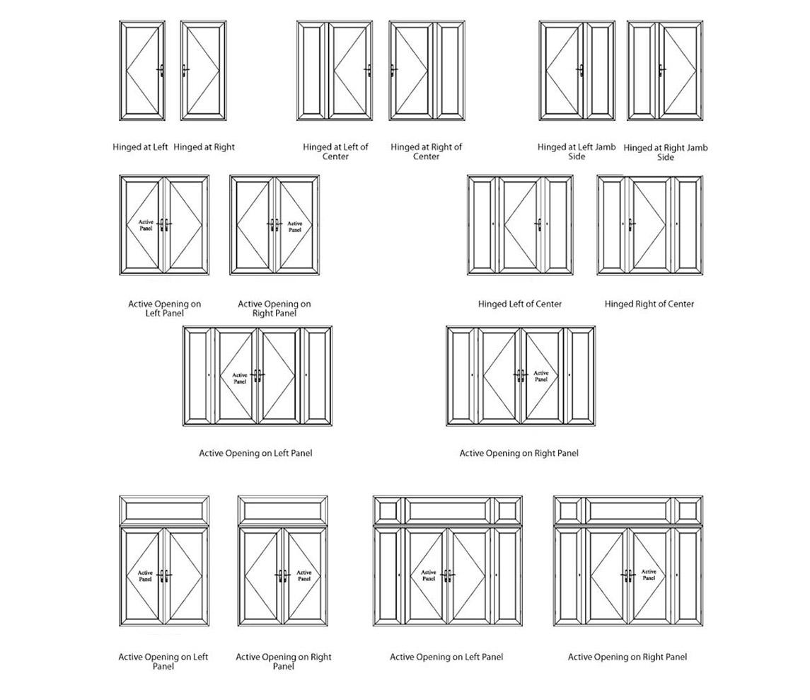 Zhongtai-Best Aluminium French Doors Classical And Simple Aluminium Swing Door -2