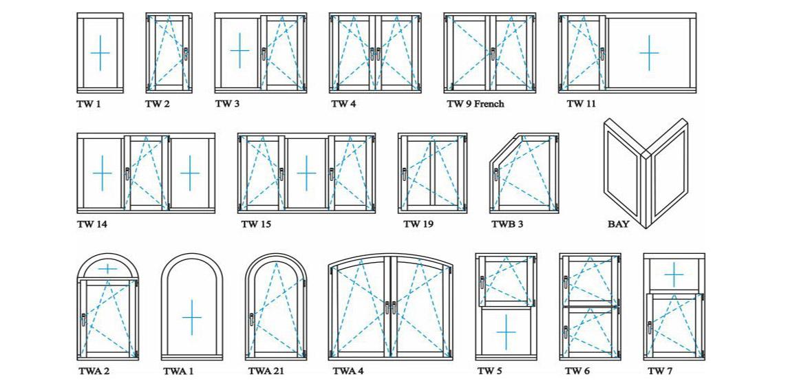 Zhongtai-Best Aluminium French Doors Classical And Simple Aluminium Swing Door -3