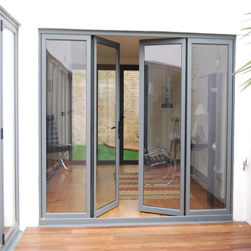 Zhongtai-Aluminium Patio Doors Full View Swing Door-1