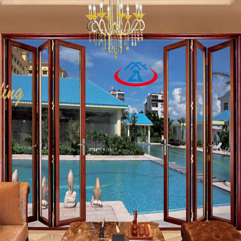 Zhongtai-Aluminium Door Frame   Aluminum Frame Tempered Glass Bi-fold Door - Zhongtai