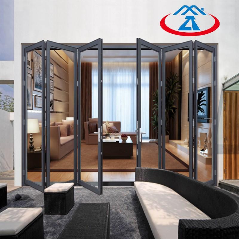 Zhongtai-New Design Aluminum Folding Door For House | Aluminium Door Frame Factory
