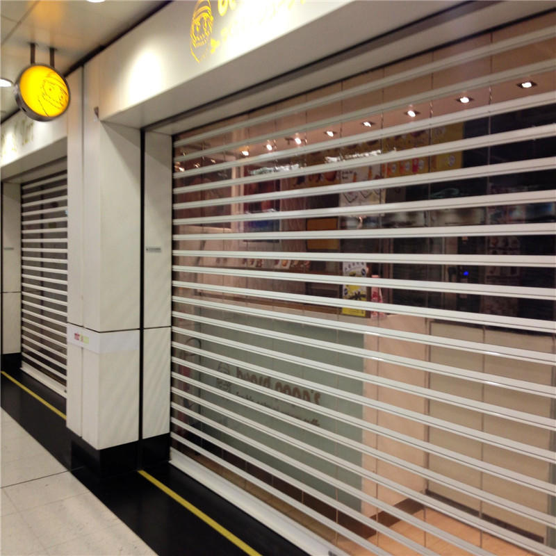 Stainless Steel Polycarbonate Rolling Door