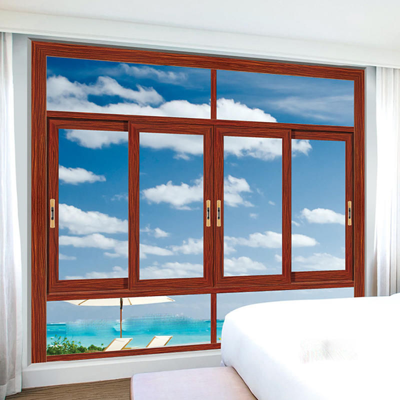 Aluminum Frame Tempered Glass Sliding Window