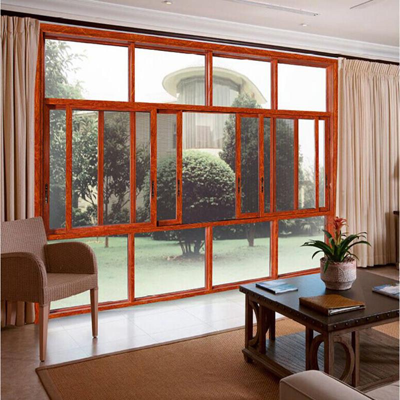 Aluminum Frame Tempered Glass Sliding Window