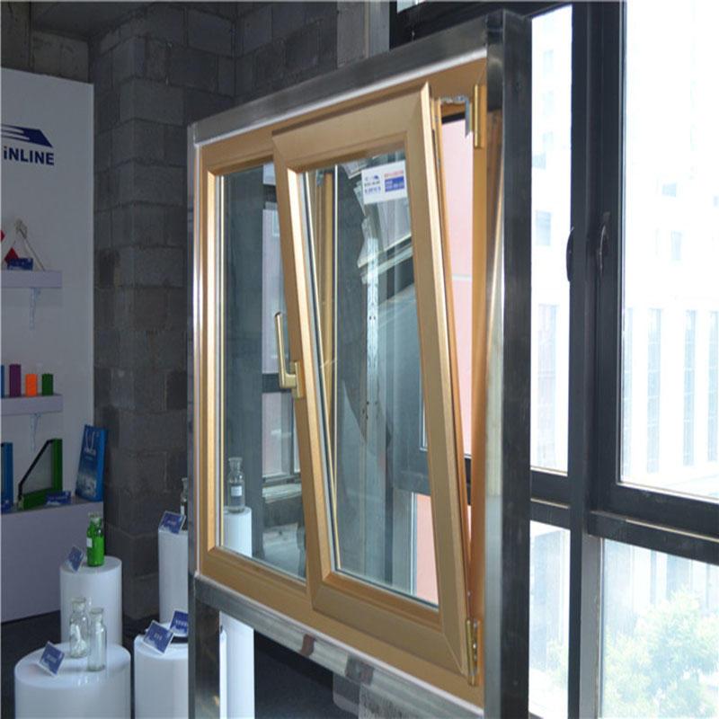 Tempered Glass Aluminum Hung Window