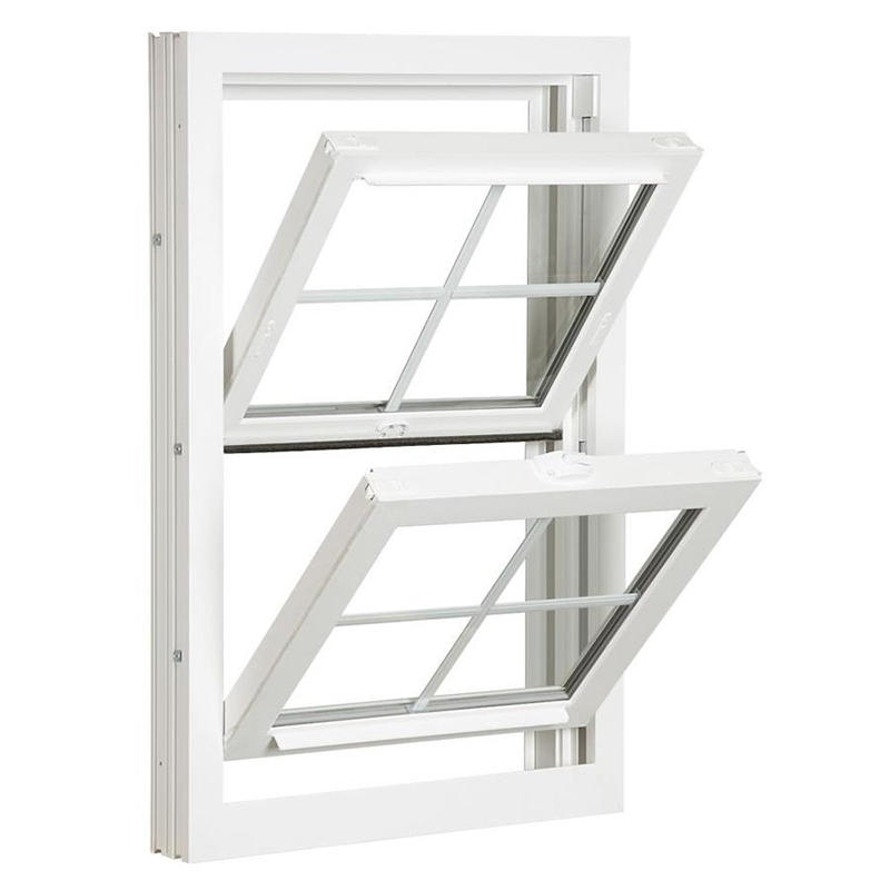 Beautiful Withe Aluminum Hung Window