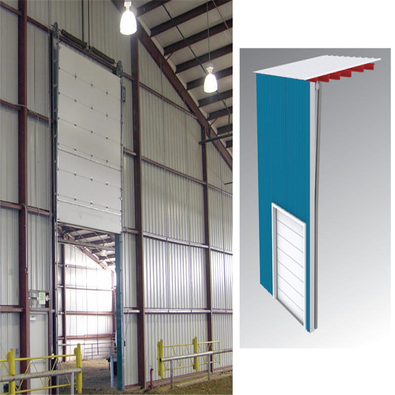 White Industrial Lifting Door